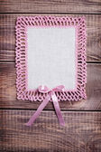 Napkin with pink lace — Stock Photo