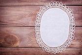 Napkin with white lace — Stock Photo
