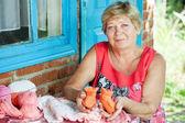 Grandmother knits  — Stock Photo