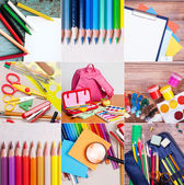 School and office supplies collection  — Stock Photo