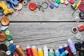 Wol en naaien — Stockfoto