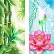 Royalty-Free Stock Vector Image: Vertical banners with bamboo and lotus