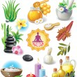 Set of spa treatment symbols - Stock vektor