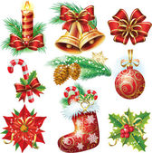 Christmas objects — Vector de stock