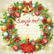 Christmas wreath — Vector de stock #13999398
