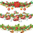 Stock Vector: Christmas garland