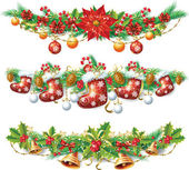 Christmas garland — Stockvector