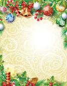 Ročník vánoční pozadí — Stock vektor