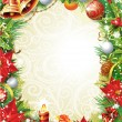 Vintage Christmas frame - Stock Vector