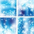 Stock Vector: Set of bokeh light background