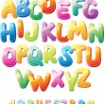 alfabeto e números — Vetorial Stock