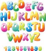 字母和数字 — 图库矢量图片