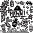 Hawaii Set - Stock Vector