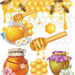 Set of honey — Stock Vector