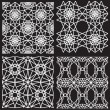 Seamless white pattern from diamond cutting — 图库矢量图片