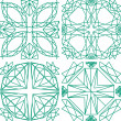 Seamless pattern from diamond cutting — Vettoriali Stock