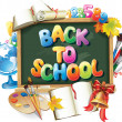 Back to school background — Vector de stock #29064647