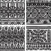 Seamless texture tribal — Vecteur