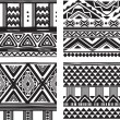 Stock Vector: Set of tribal texture