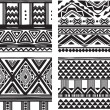 Set of tribal texture — Stock Vector