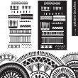 Pattern brushes — Vector de stock #33966577