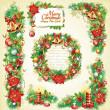 Noel afiş kümesi — Stok Vektör