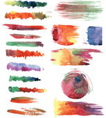 Watercolor brush strokes — Stock Vector
