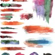 Set of watercolor vector strokes — Stock Vector