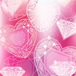 Vector de stock : Abstract pink background with linear diamonds cutting