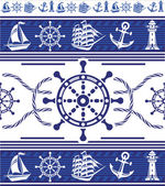 Banners with Nautical symbols — Vecteur