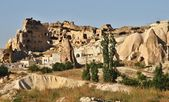 House carved in typical rock formation in Cappadocia, Turkey — Fotografia Stock