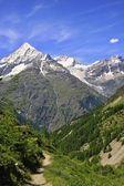 View  near the Matterhorn in Swiss — Foto de Stock