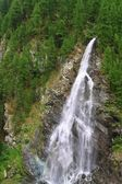 View  on waterfall  near the Matterhorn in Swiss — Foto Stock