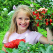 Stock Photo: Girl with red currant