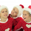 Happy Christmas girls — Stock Photo