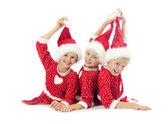 Happy Christmas girls — Stock Photo