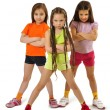 Active sporty girls — Stock Photo