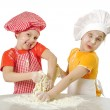 Messy bakers — Stock Photo