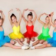 Stock Photo: Little ballet dancers
