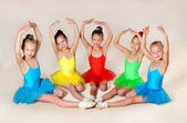 Little ballet dancers — 图库照片