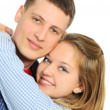 Young romantic valentine's couple — Stock Photo