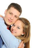 Young romantic valentine's couple — Stock Photo