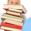 Stock Photo: School girl with books