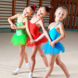 Group of little ballet dancers — Stock Photo