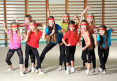 Group of sporty girls — Stock Photo