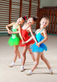 Group of little ballet dancers — Стоковое фото