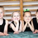 Sporty ltttle girls — Stock Photo #19385487