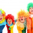 Stock Photo: Funny little clowns