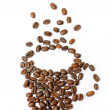 Cup of coffee made of coffee beans — Stock Photo