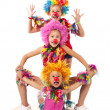 Stock Photo: Funny clowns